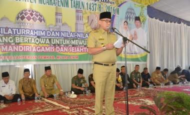 Bupati dan Wabup Muara Enim Halal Bihalal Bersama Unsur Muspida dan SKPD di Lingkungan Pemkab Muara Enim