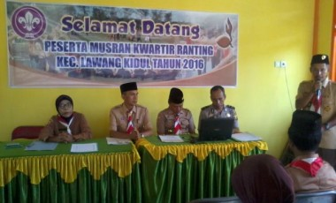 Dr Yusnawati Pimpin Kwaran Pramuka Kecamatan Lawang Kidul