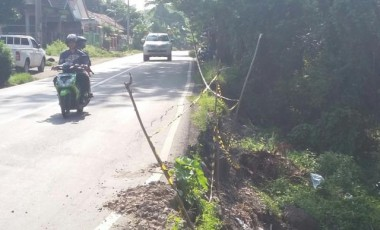 Waspada, Jalinsum Desa Karang Raja Rawan Longsor