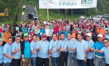 Ribuan Peserta Ramaikan Jalan Sehat HUT PTBA