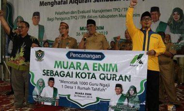 Pemkab Muara Enim Siap Cetak 1000 Guru Ngaji Penghapal Al-quran