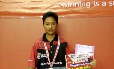 Atlet Bukutangkis Binaan Porsiba Juara2, Dalam Turnamen Daihatsu Astec Open Palembang 2016
