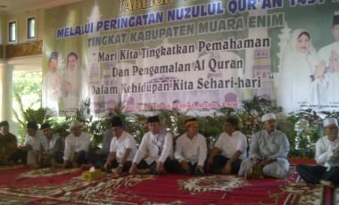 Bupati dan Wabup Muara Enim Hadiri Tabligh Akbar Peringatan Nuzulul Qur'an