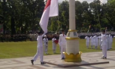 Bupati Muara Enim Pimpin Upacara HUT RI Ke-71