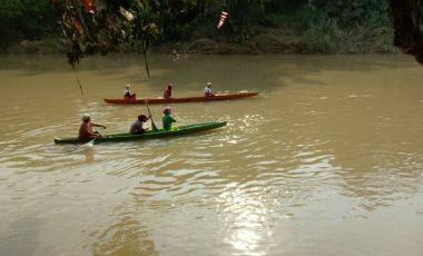 Semarakan HUT RI Ke-72, Desa Tanjung Raja Gelar Lomba Bidar
