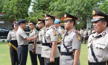 Polres Muara Enim Mutasi Tiga Jabatan Perwira