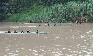 Semarakan HUT RI Ke-73, Desa Tanjung Raja Gelar Lomba Bidar