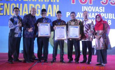 Penghargaan Top 99 Inovasi Pelayanan Publik dan UNPSA Tahun 2018 Kembali Diterima Pemkab Muara Enim