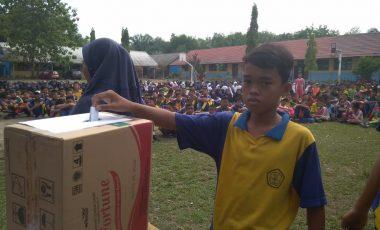 Ini yang Dilakukan SMP Negeri 1 Ujanmas dalam Pemilihan Ketua Osis