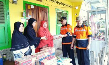 Baznas Muara Enim Salurkan Bantuan Kepada Korban Kebakaran di Kelurahan Tungkal