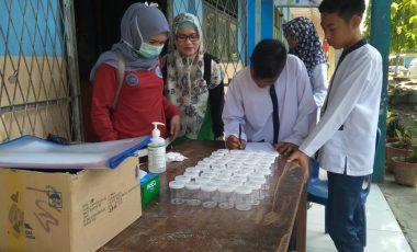 Cegah Penyalahgunaan Napza, Siswa SMP Negeri 1 Ujanmas di Tes Urine