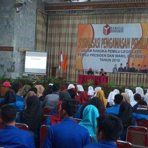 Sukseskan Pemilu 2019, Bawaslu Muara Enim lakukan Sosialisasi pada Pemuda-Pemudi