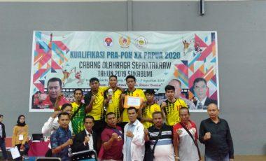 Tim Sepak Takraw Putra Sumsel Melaju ke PON 2020 di Papua