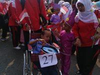 Pelajar TK Penyandang Disabilitas Ikuti Karnaval Budaya di Tanjung Enim