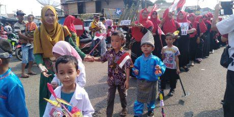 Karnaval Budaya Pelajar PAUD/ TK Semarakkan HUT RI ke-74 di Tanjung Enim