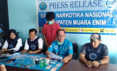 BNNK Muara Enim Ringkus Bandar Narkoba dari Kecamatan Lawang Kidul