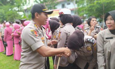126 Personil Polres Muara Enim Naik Pangkat