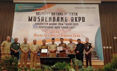 Gelar Musrenbang RKPD 2020, Pemkab Muara Enim Agendakan 6 Prioritas Pembangunan