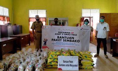PT Pertamina EP Asset 2 Limau Field Salurkan Bantuan Paket Sembako