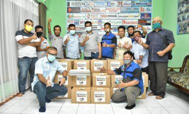 Jelang Akhir Tahun, Humas PTBA Tbk Sambangi Rumah Jurnalis PWI Muara Enim