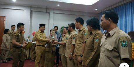 Tiga Desa Terima Penghargaan Pengelolaan Perpustakaan Terbaik di Muara Enim