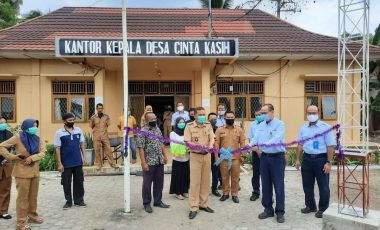 CSR PT TeL PP Berikan Bantuan Tower Internet dan Pembangunan Masjid