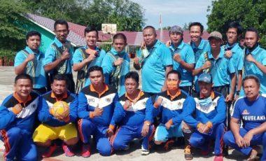 PWI Muara Enim Futsal Bareng SMAN 1 dan SMPN 1 Ujanmas
