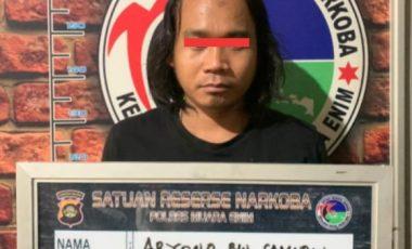 Sering Transaksi Narkoba, Ariono Diringkus Team Cobra Polres Muara Enim