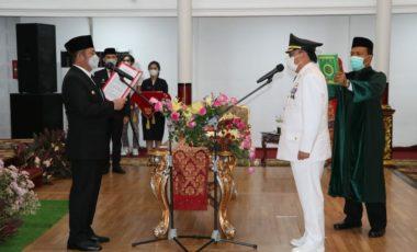 Gubernur Sumsel Resmi Lantik Nasrun Umar Jadi Penjabat Bupati Muara Enim