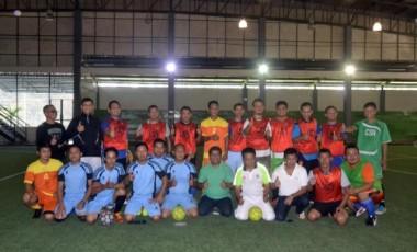 Tingkatkan Silaturahmi, PTBA Bersama Wartawan Gelar Futsal Bareng