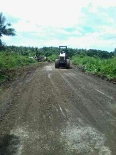 Jalan Lingkar Lembak Tanjung Agung Diperbaiki