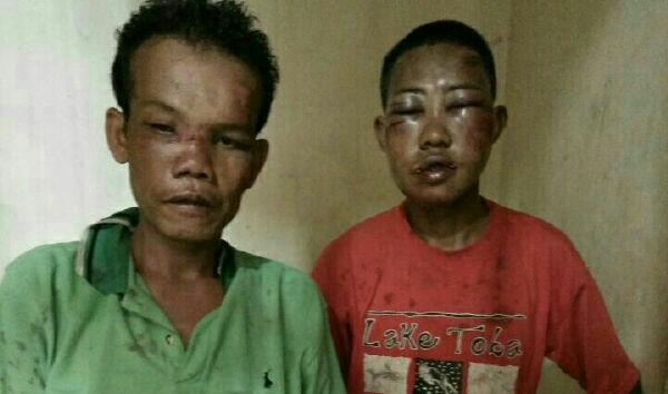 Curi Nangka, Dua Pelaku Dihajar Massa Serta Motor Dibakar